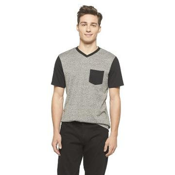 Bkc Men's V-neck T-shirt - Gray/black
