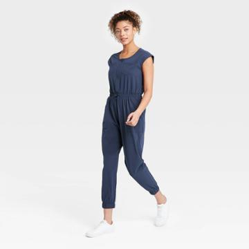 Women's Short Sleeve Jumpsuit - All In Motion Navy