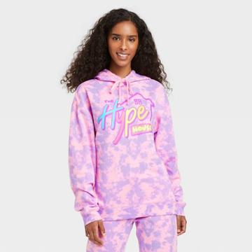 Modern Lux Women's Hype House Hooded Graphic Sweatshirt - Pink