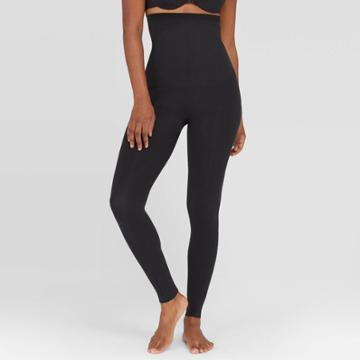 Assets By Spanx Women's Hi Waist Seamless Leggings - Black M,