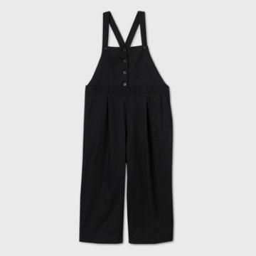 Women's Plus Size Crop Leg Jumpsuit - Ava & Viv Black X, Women's