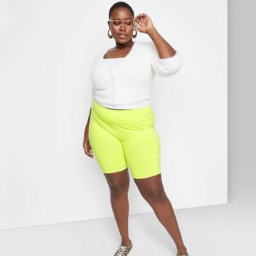 Women's Plus Size Super-high Rise Bike Shorts - Wild Fable