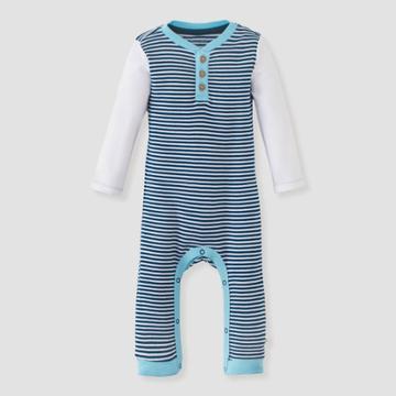 Burt's Bees Baby Baby Boys' Classic Stripe Jumpsuit - Purple 0-3m, Boy's, Blue