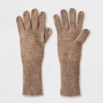 Women's Cashmere Mittens - A New Day Tan One Size, Women's, Oatmeal Grey