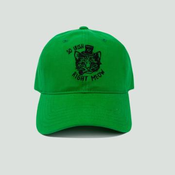 Concept One Men's So Irish Right Meow Dad Hat - Green