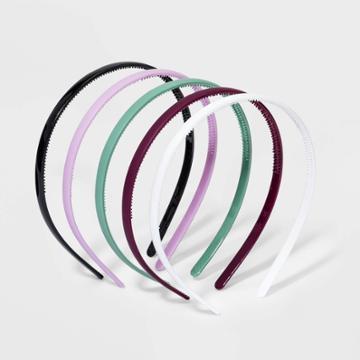 Girls' 5pk Solid Headband - Art Class