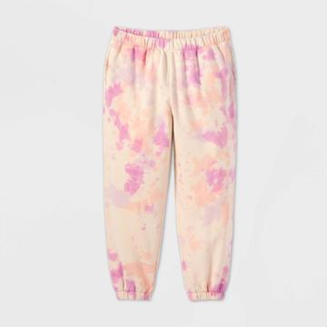 Women's Tie-dye High-rise Vintage Sweatpants - Wild Fable Pink
