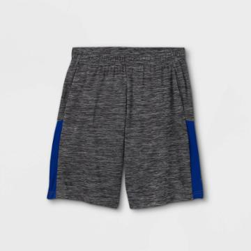 Boys' Colorblock Mesh Shorts - All In Motion Black/white