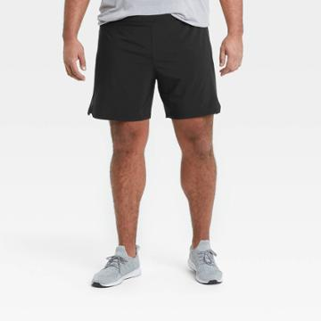 Men's 7 Lined Run Shorts - All In Motion Black