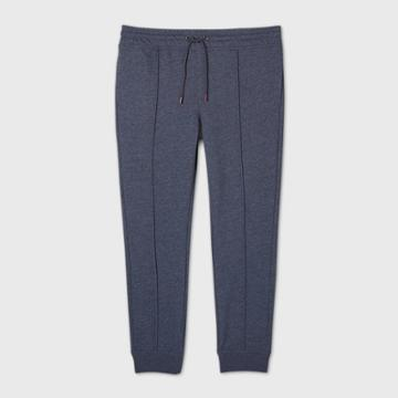 Men's Big & Tall Pintuck Fleece Jogger Pants - Goodfellow & Co Blue
