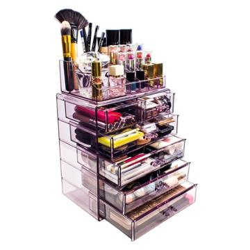 Sorbus Cosmetic Makeup And Jewelry Storage Case Display - Spacious Design (4 Large - 2 Small Drawers - Purple)