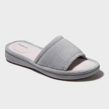 Women's Dearfoams Terry One-band Slide Slippers - Sleet Gray