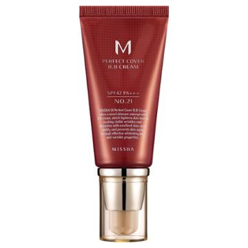 Missha M Perfect Cover Bb Cream - Spf42 Pa+++ No. 21 Light Beige