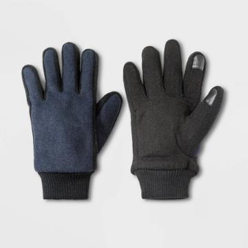 Men's Rib Knit Gloves - Goodfellow & Co Navy M, Men's, Size: