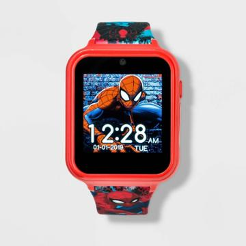 Marvel Boys' Spider-man Itime Interactive Watch - Red,