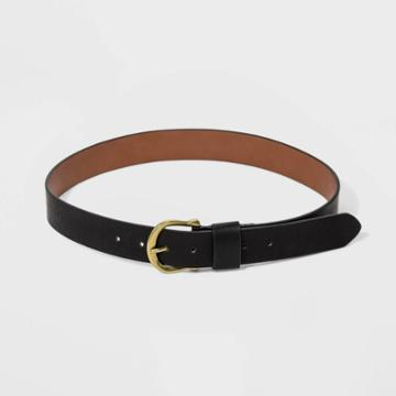 Women's Plus Size Loop Belt - Universal Thread Black 3x, Women's,