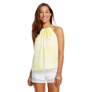 Lilly Pulitzer For Target Women's Halter Top - Pineapple Punch -