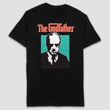 Paramount Pictures Men's The Godfather Short Sleeve Graphic T-shirt - Black