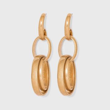 Open Oval Link Drop Earrings - Universal Thread Worn Gold