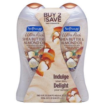 Softsoap Moisturizing Body Wash, Body Butter Shea And Almond Oil