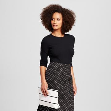 Women's Long Sleeve Body Suit Black S - Who What Wear