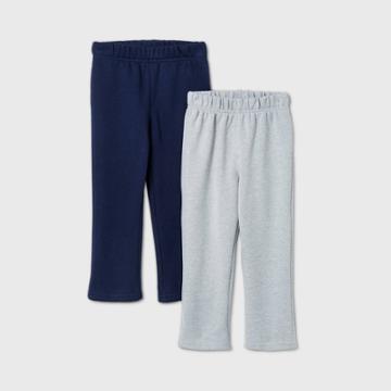 Toddler Boys' 2pk Fleece Pull-on Pants - Cat & Jack Navy