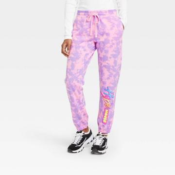 Modern Lux Women's Hype House Graphic Jogger Pants - Pink