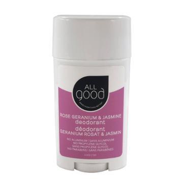 All Good Rose Geranium & Jasmine Deodorant - 2.5oz, Adult Unisex