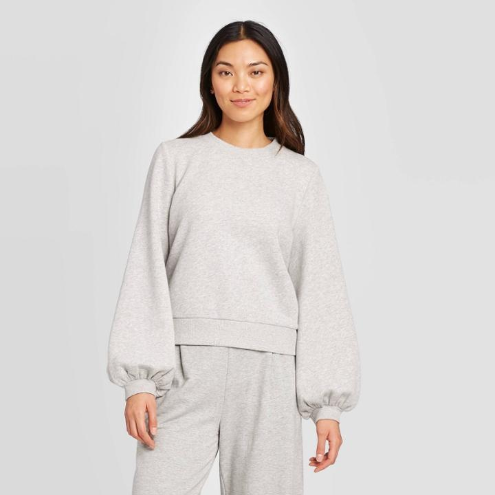 Women's Crewneck Pullover - A New Day Gray