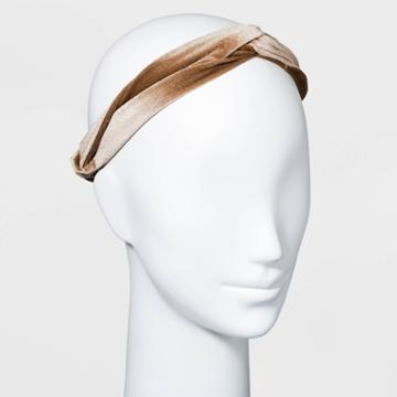 Velvet Headwrap - A New Day Dark Tan