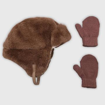 Baby Boys' Hat And Glove Set - Cat & Jack Brown 12-24m, Boy's, Size: 18-24 Months