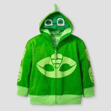 Pj Masks Boys' Gekko Costume Hoodie - Green