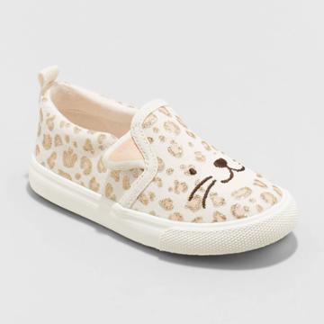 Toddler Girls' Norene Slip-on Apparel Sneakers - Cat & Jack Tan