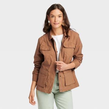 Women's Anorak Jacket - Universal Thread Brown