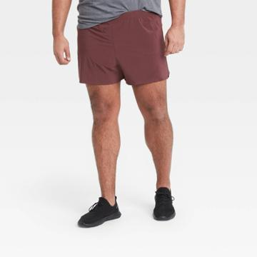 Men's 5 Lined Run Shorts - All In Motion Berry