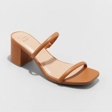 Women's Cris Block Heels - A New Day Brown