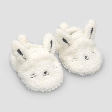 Baby Bunny Constructed Bootie Slipper - Just One You Made By Carter's Gray Newborn, Kids Unisex
