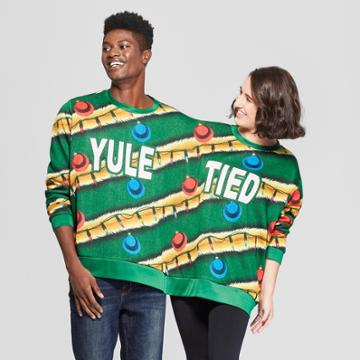 Mad Engine Men's Long Sleeve Yule Tied Sweatshirt - Forest Green
