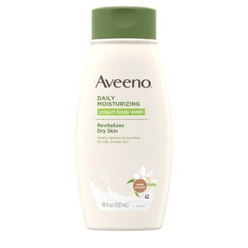 Aveeno Vanilla Scented Daily Moisturizing Yogurt Body Wash For Dry