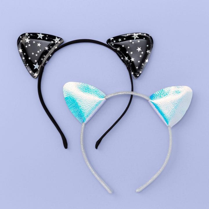 More Than Magic Girls' 2pk Cat Ear Headbands - More Than