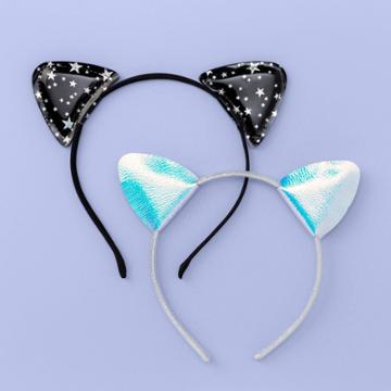 More Than Magic Girls' 2pk Cat Ear Headbands - More Than