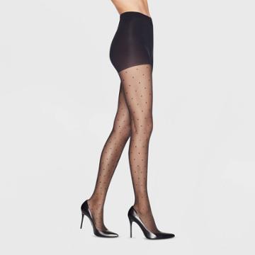 Hanes Premium Women's Pindot Perfect Tights - Black