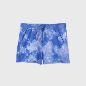 Girls' French Terry Shorts - All In Motion Periwinkle Blue Xs, Girl's, Purple Blue