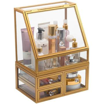 Sorbus Stackable Makeup Organizer - Gold