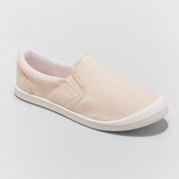 Women's Mad Love Kasandra Wide Width Slip On Canvas Sneakers - Blush 5w, Women's,