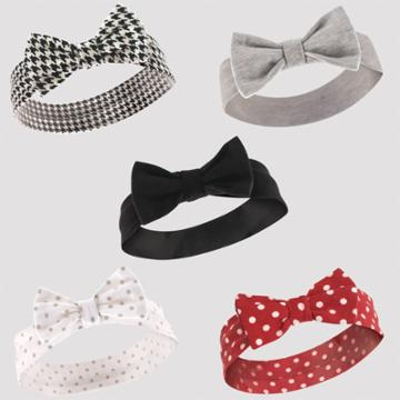 Touched By Nature Hudson Baby 5pk Houndstooth & Polka Dots Headbands