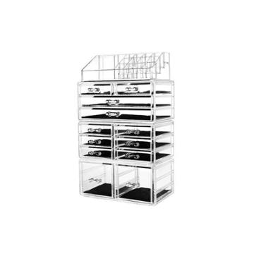Sorbus Cosmetic Makeup And Jewelry Storage Case Tower Display Organizer
