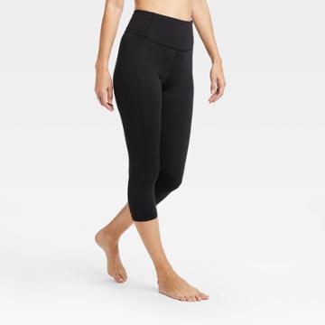 Women's Contour Power Waist High-rise Capri Leggings 20 - All In Motion Black