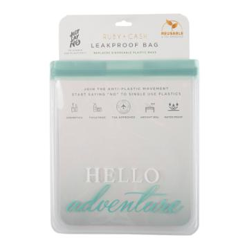 Ruby+cash Hello Adventure Leakproof Quart Size Bag - Tsa Approved