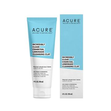 Acure Organics Acure Detox Defy Charcoal Lemonade Clay Facial Cleansers
